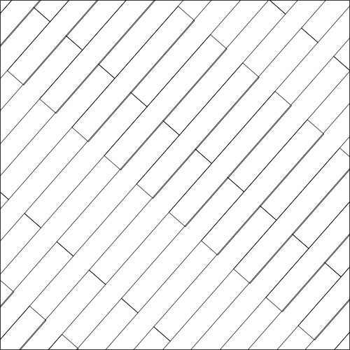 Cassero regolare diagonale